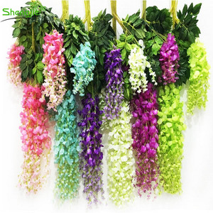 Silk artificial hanging wisteria vine for wedding