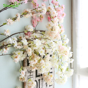 Artificial hanging cherry blossom flower branches