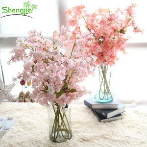 Artificial cherry blossom flower tree branch for centerpieces