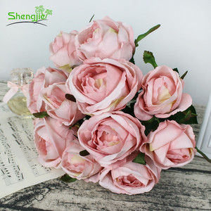 Artificial rose flower bouquet for wedding