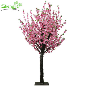 Customized artificial peach wedding blossom tree