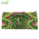Vertical artificial outdoor plant grass wall