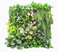 Artificial vertical garden wall plants for outdoor decoration