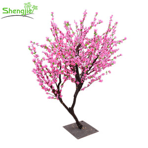 Artificial peach blossom wedding flower tree